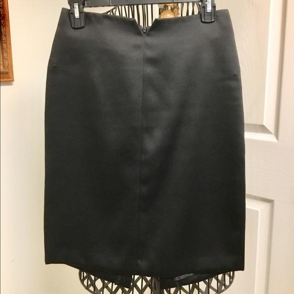 ABS Allen Schwartz Dresses & Skirts - A.B.S Allen Schwartz black satin skirt size 4